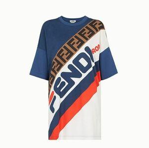 X Fila Oversized T-Shirt in Blue